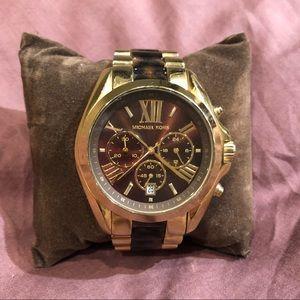Michael Kors Metallic Bradshaw Chronograph watch